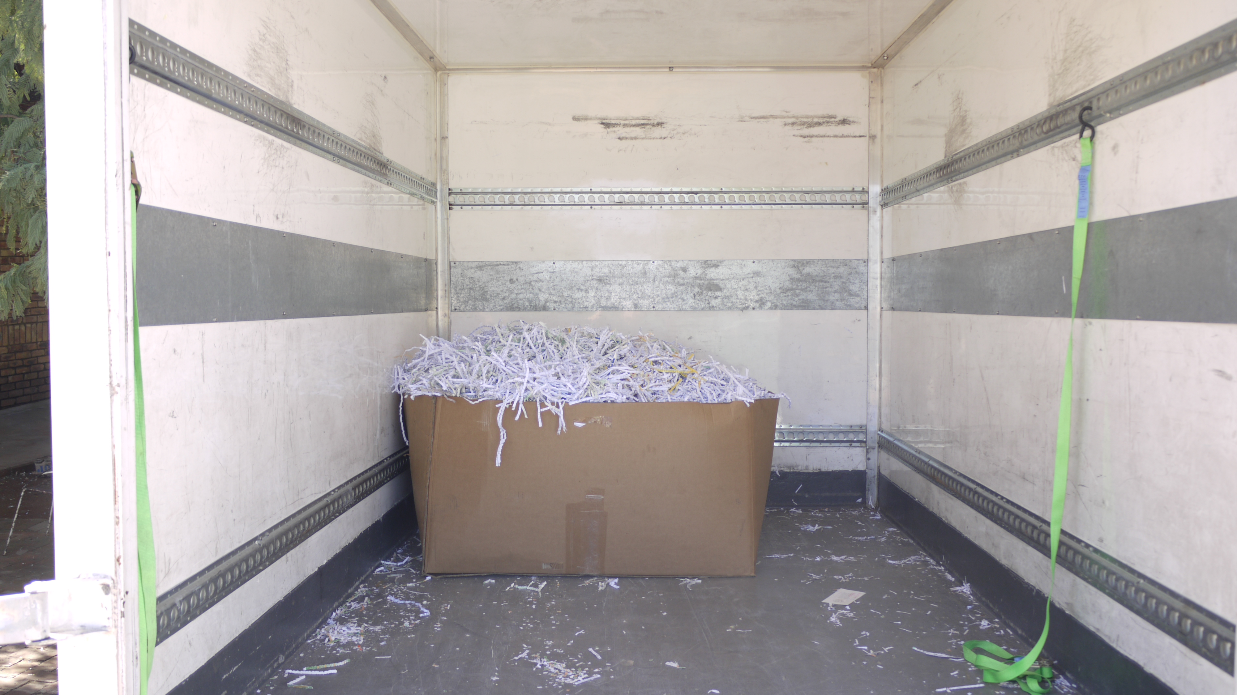 Shredded Paper In Truck